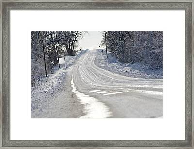 Framed Print featuring the photograph Where Will The Road Take You? by Dacia Doroff