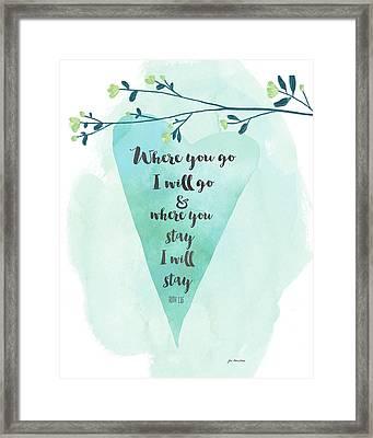 Where You Go Heart Framed Print