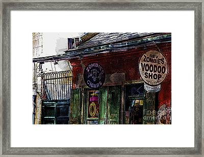 Where Zombies Meets Voodoo  Framed Print