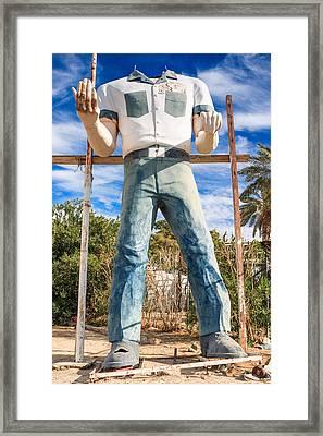 Whered It Go Muffler Man Statue Framed Print