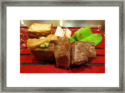 Where's The Beef? Framed Print by Evan Peller