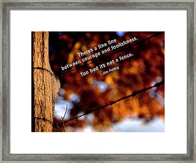 Where's The Fence Framed Print by Mike Flynn
