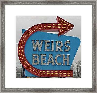 Where's Weirs? Framed Print by Barbara McDevitt