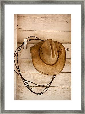 Wherever I Lay My Hat Framed Print
