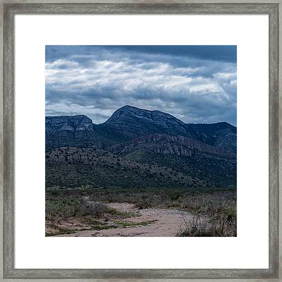 Framed Print featuring the photograph Whetstone Mountain Dusk by Beverly Parks