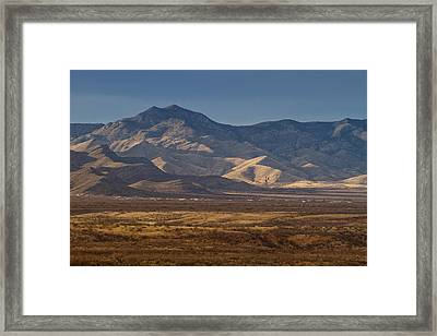 Whetstones At Sunset Framed Print by Beverly Parks