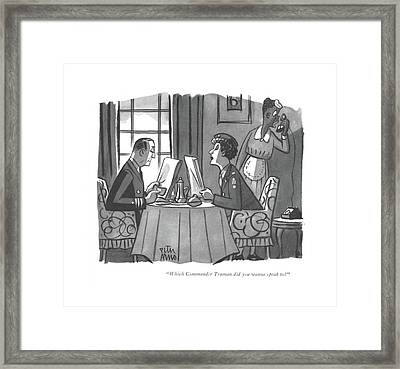Which Commander Truman Did You Wanna Speak To? Framed Print