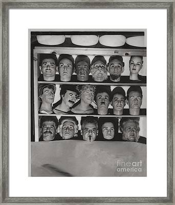 Which Is The Real Ventriloquist Head - Hollywood 1951 Framed Print