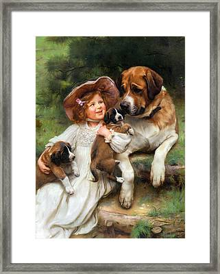 Which May I Keep Framed Print by Arthur John Elsley