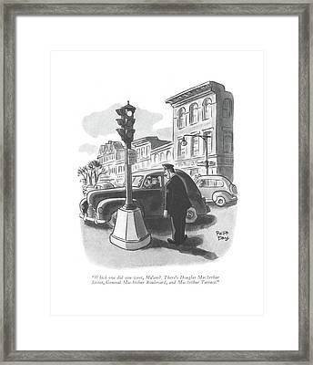 Which One Did You Want Framed Print by Robert J. Day