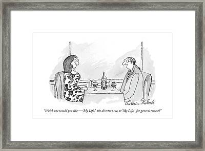 Which One Would You Like  -   'my Life Framed Print by Victoria Roberts