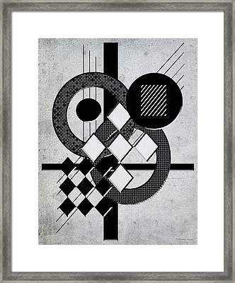 Which Way Is Up - Black And White Framed Print