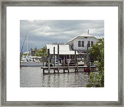 Whiddens Sea Food Market Framed Print