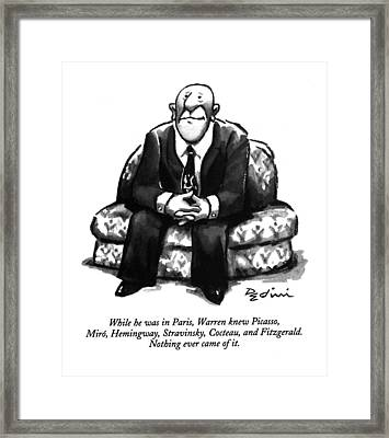While He Was In Paris Framed Print