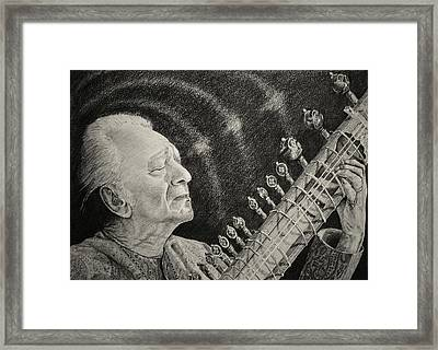 While My Sitar Gently Weeps Framed Print