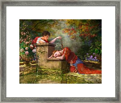 While She Was Waiting Framed Print