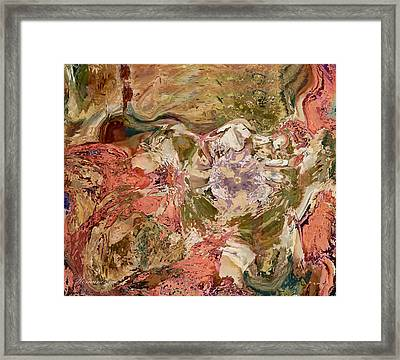 While The Lady Lay Sleeping Framed Print by Georgiana Romanovna