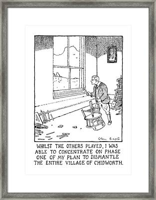 Whilst The Others Played Framed Print by Glen Baxter
