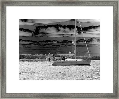 Whilst We Were Sailing Framed Print by Rick Todaro