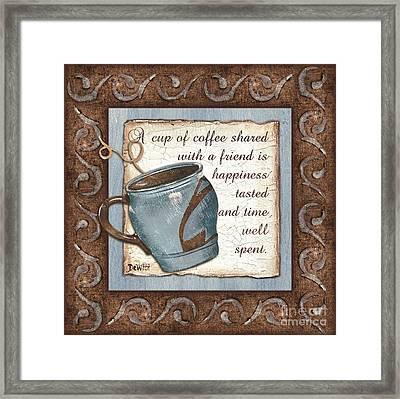 Whimsical Coffee 2 Framed Print by Debbie DeWitt