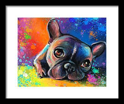 French Bulldog Framed Prints