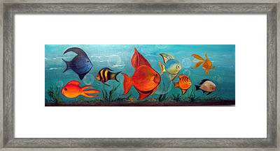 Whimsical Fish Framed Print by Darla Freeman