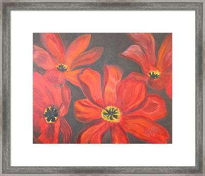 Whimsical Floral Framed Print