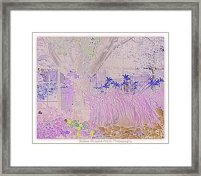 Whimsical Garden Framed Print by Bobbee Rickard
