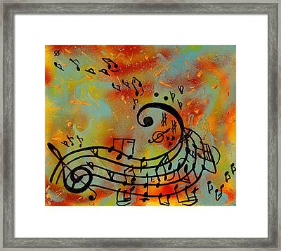 Whimsical Melody Framed Print