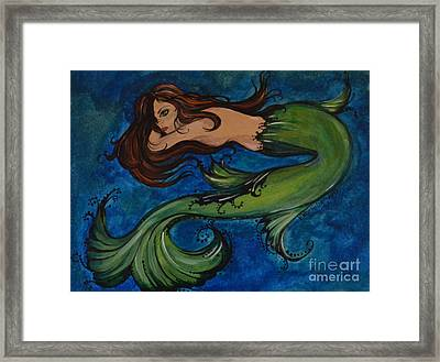 Whimsical Mermaid Framed Print by Valarie Pacheco