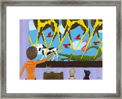 Whimsical Painting Framed Print by Christy Beckwith