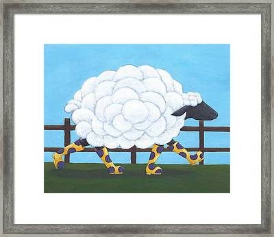 Whimsical Sheep Art Framed Print