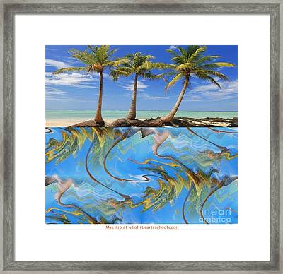 Whimsical Tropics Framed Print by PainterArtist FIN