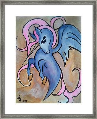 Whimsical Unicorn Framed Print