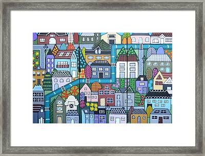 Whimsical Village Framed Print
