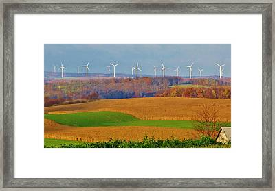 Whimsical Windmills Framed Print by Sherry Brant