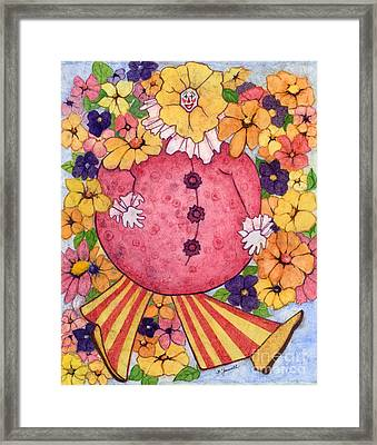 Whimsy On Parade  Framed Print by Barbara Jewell