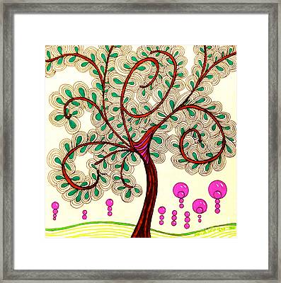 Whimsy Tree Framed Print by Anita Lewis
