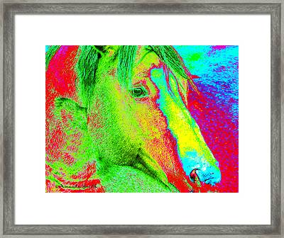 Up Close And Electrified Framed Print