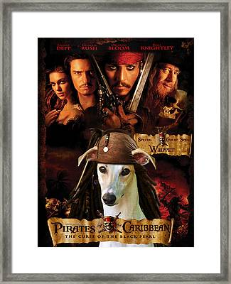 Whippet Art - Pirates Of The Caribbean The Curse Of The Black Pearl Movie Poster Framed Print