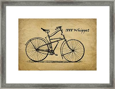Whippet Bicycle Framed Print by Tom Mc Nemar