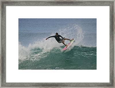 Whippin It Framed Print by Joshua Marumoto