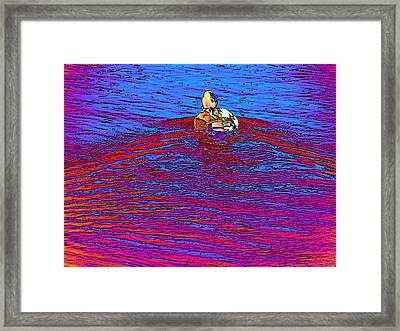 Whirl Of Colored Suns Framed Print by Lenore Senior