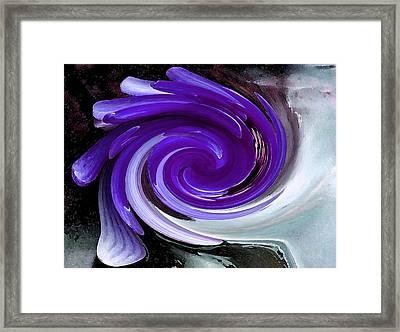 Whirlaway - Blue Framed Print