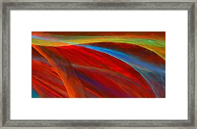 Whirled Colors Framed Print