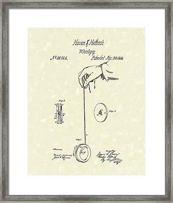 Whirligig 1867 Patent Art Framed Print by Prior Art Design