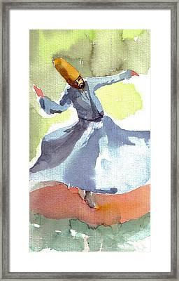 Whirling Dervish Framed Print by Faruk Koksal