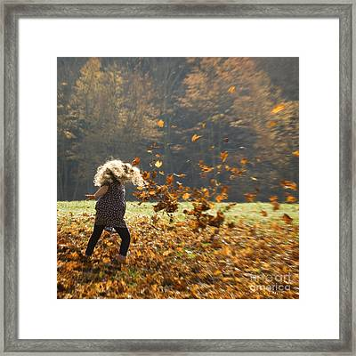 Framed Print featuring the photograph Whirling With Leaves by Carol Lynn Coronios