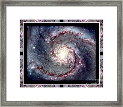 Whirlpool Galaxy Self Framed Framed Print by Rose Santuci-Sofranko