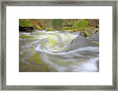 Whirlpool In Forest Framed Print by Charline Xia